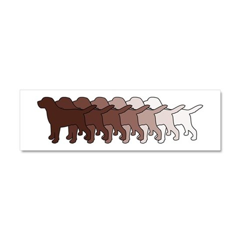 Chocolate Lab Gradient  Pets Car Magnet 10 x 3 by CafePress