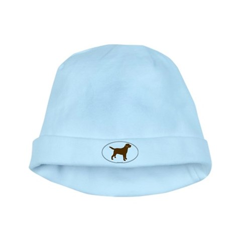 Chocolate Lab Outline  Music baby hat by CafePress