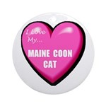 Maine Coon Cat Lover Ornament