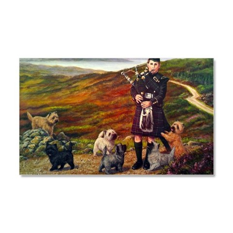 Cairn Terrier Car Magnet 12 x 20 Pets Car Magnet 20 x 12 by CafePress