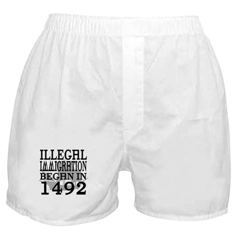 1492  Native american Boxer Shorts by CafePress
