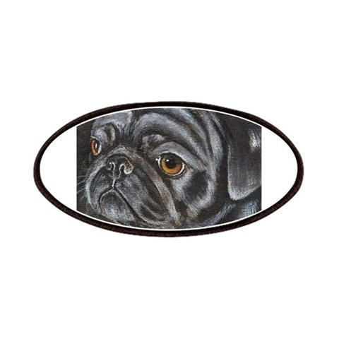 Black Pug  Pets Patches by CafePress