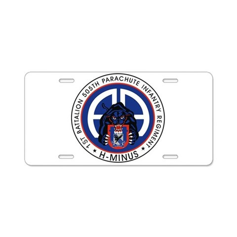 1st / 505th PIR  Military Aluminum License Plate by CafePress