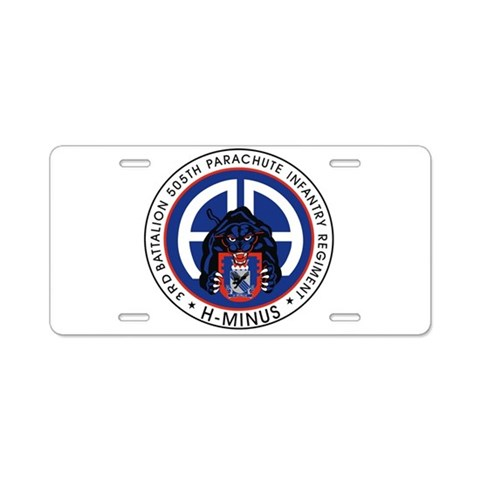 3rd / 505th PIR  Military Aluminum License Plate by CafePress