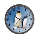 penguins wall clock