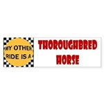 Thoroughbred Horse Bumper Sticker