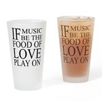 Music-Food-Love Quote Drinking Glass