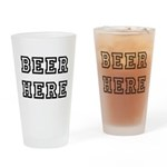Beer Here Drinking Glass
