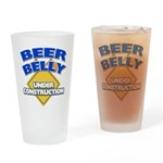 Beer Belly Under Construction Drinking Glass