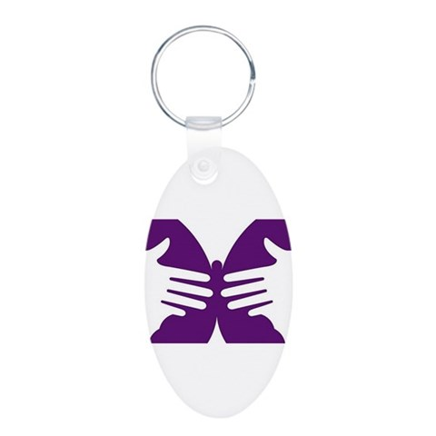 Butterfly Hope  Baby Aluminum Oval Keychain by CafePress
