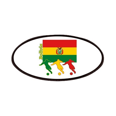 Bolivia Soccer  Sports Patches by CafePress