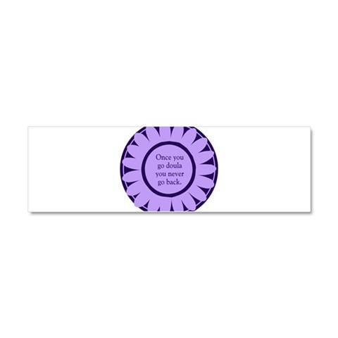 Doula Flower -  Nursing Car Magnet 10 x 3 by CafePress