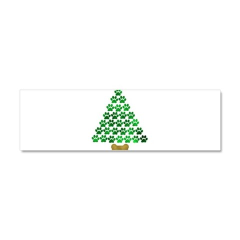 Dog's Christmas Tree  Dog Car Magnet 10 x 3 by CafePress