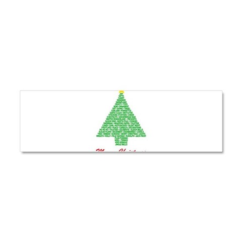 Christmas Words Tree  Christmas Car Magnet 10 x 3 by CafePress