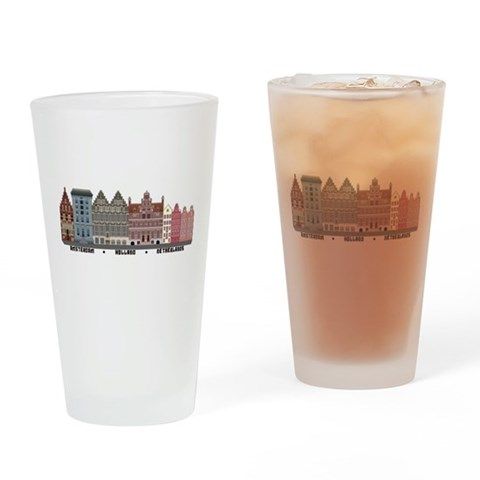Amsterdam Netherlands  City Drinking Glass by CafePress