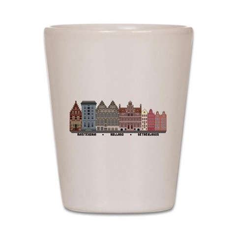 Amsterdam Netherlands  City Shot Glass by CafePress