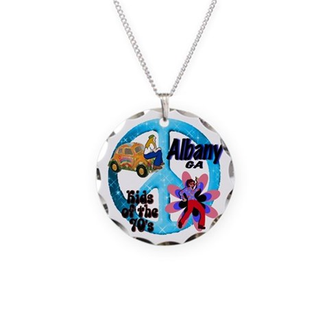 Albany Kids of the 70's  Party Necklace Circle Charm by CafePress