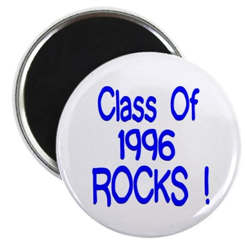 1996 Blue  College 2.25 Magnet 10 pack by CafePress