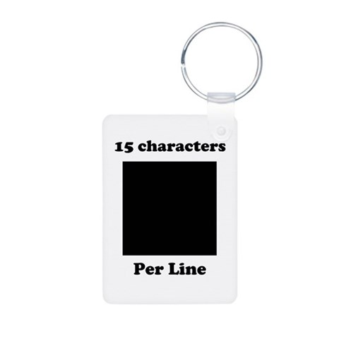 Your Picture Your Text  Design Aluminum Photo Keychain by CafePress