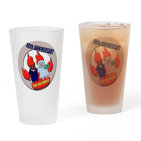 40th Wedding Anniversary  Wife Drinking Glass by CafePress