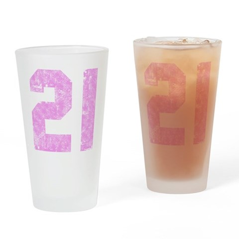 21st Birthday  Funny Drinking Glass by CafePress