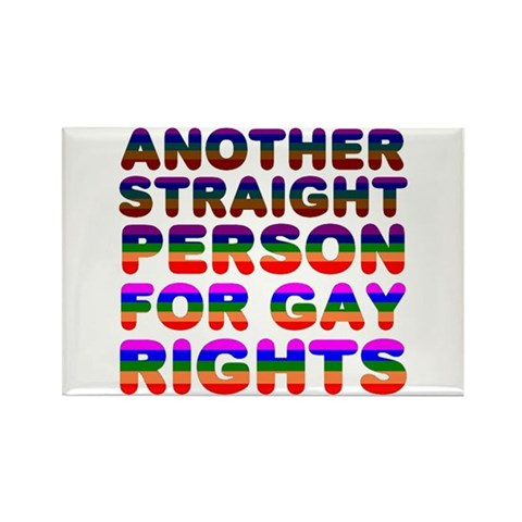 Pro Gay Rights Family Rectangle Magnet by CafePress