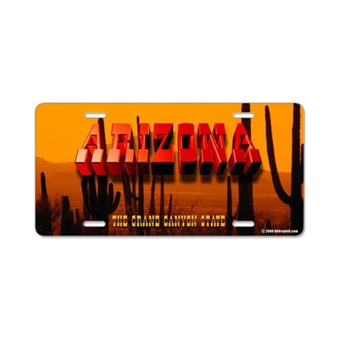 Arizona Desert Landscape Vanity Plate Arizona Aluminum License Plate by CafePress