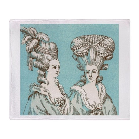 18th Century Fashion  Humor Stadium Blanket by CafePress