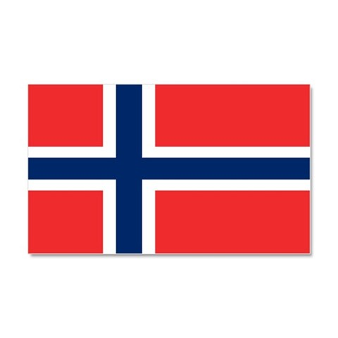 Flag of Norway  Family Car Magnet 20 x 12 by CafePress