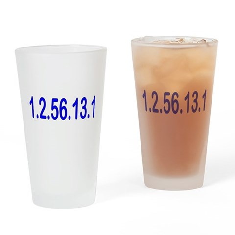 1.2.56.13.1  Sports Drinking Glass by CafePress