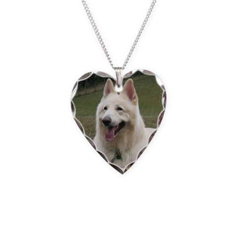 Abba's Shilohs  :nico Pets Necklace Heart Charm by CafePress