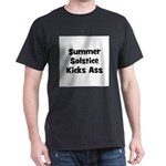 Summer Solstice Kicks Ass Black T-Shirt
