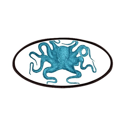 Blue Octopus  Science Patches by CafePress