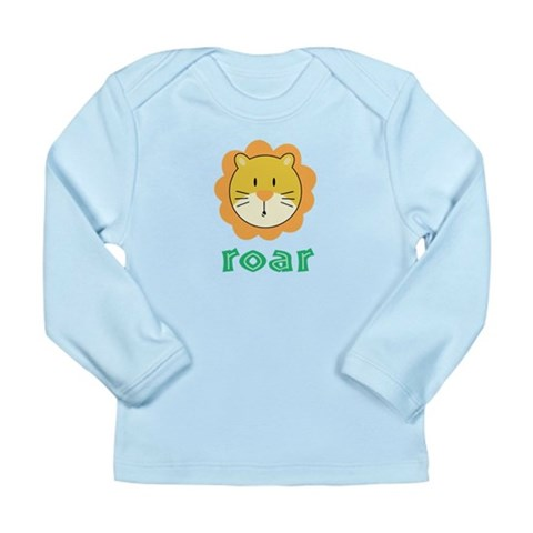 Animal Noises - Lion Roar Long Sleeve Infant T-Shi Funny Long Sleeve Infant T-Shirt by CafePress