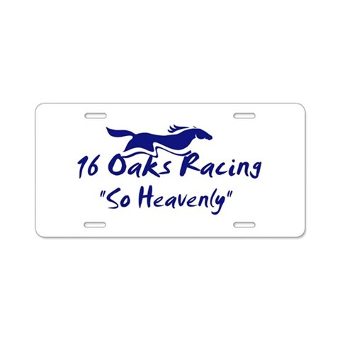 16 Oaks  Sports Aluminum License Plate by CafePress