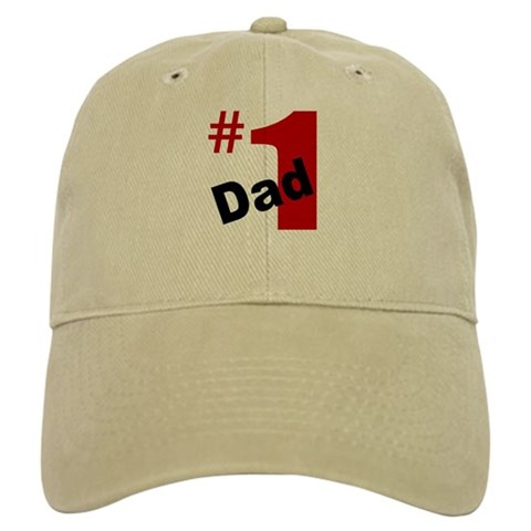 1 Dad  white or khaki Dad Cap by CafePress