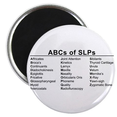 ABCs of SLPs   2.25 Magnet 100 pack by CafePress