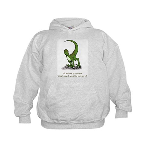Adorable Velociraptor  Funny Kids Hoodie by CafePress
