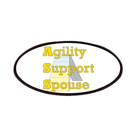Agility Support Spouse  Pets Patches by CafePress
