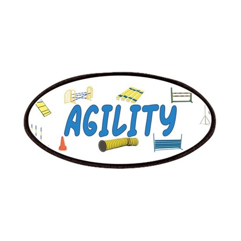 Agility  Pets Patches by CafePress