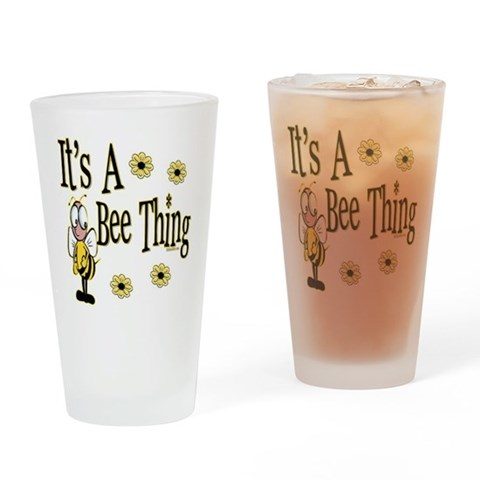 Bee Thing  Cute Drinking Glass by CafePress