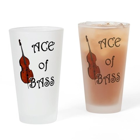 Ace of Bass  Music Drinking Glass by CafePress