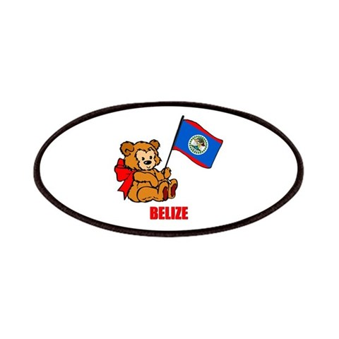 Belize Teddy Bear  Baby Patches by CafePress