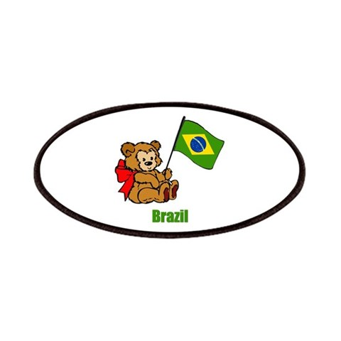 Brazil Teddy Bear  Baby Patches by CafePress