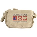 Chocolate Lab Messenger Bag