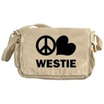 Westie Messenger Bag