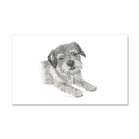 Border Terrier  Pets Car Magnet 20 x 12 by CafePress