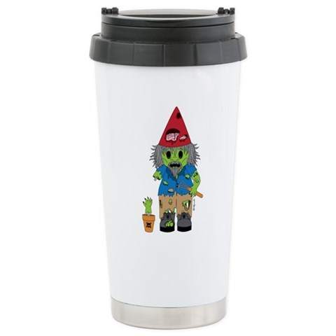 Zombie Gnome  Zombie Ceramic Travel Mug by CafePress