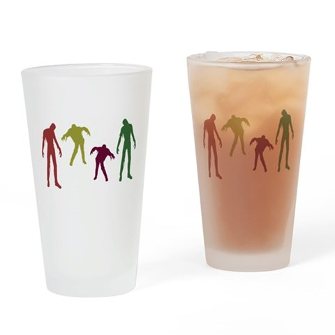Zombies Attack  Cool Drinking Glass by CafePress