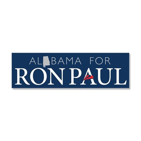 Alabama for Ron Paul  Conservative Car Magnet 10 x 3 by CafePress